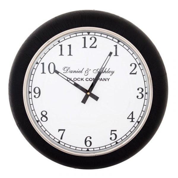 Scott Black Desk Clock 26cm