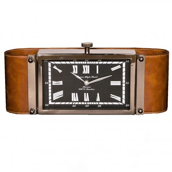 Victor Brown Leather Desk clock 29cm