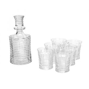 Glass Decanter & 6 Tumbler Set Gift Box