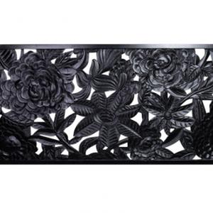 Wooden Huge Black Wall Decor Bed Head 180cm