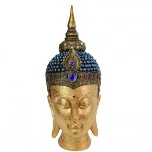 Rulai Buddha Head Blue 43cm