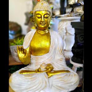Buddha Statue Meditating Gold 75cm