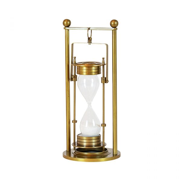 Hourglass Brass Finish Hanging 30cm