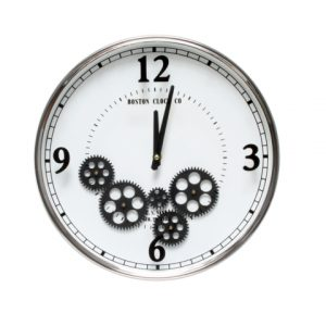 Moving Gear Wall Clock White 36cm