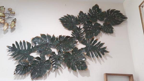 Green Leaf Metal Wall Art