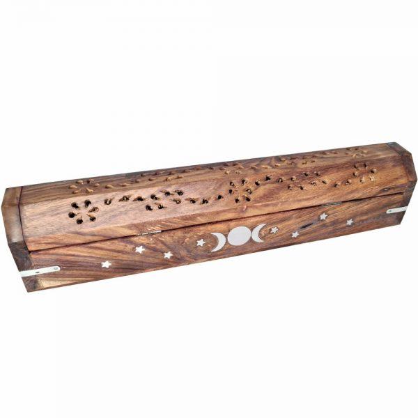 Wooden Triple Moon Incense Stick & Cone Burner 30cm