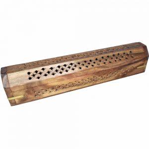Wooden Jali Cutwork Incense Stick & Cone Burner 30cm
