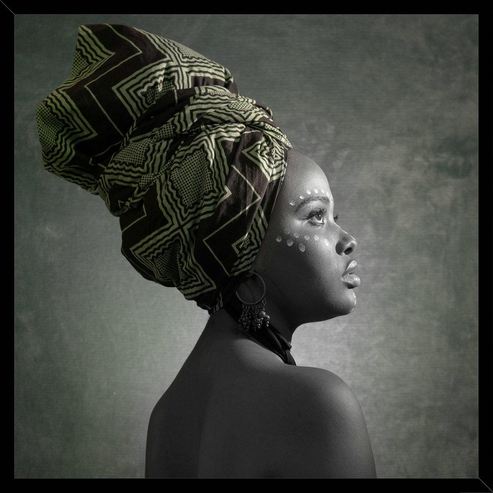 African Lady Tanyana Framed Print 45cm x 45cm