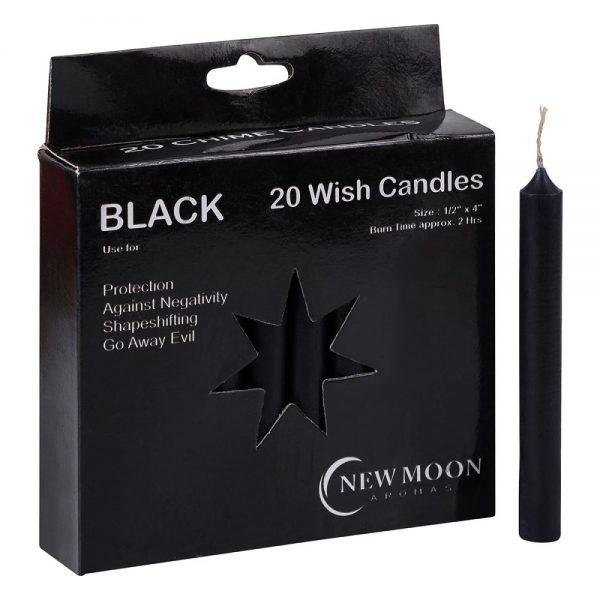 Black Wish Candles 20pk